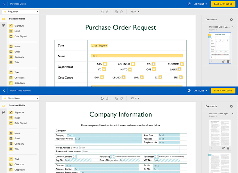 Form Templates - DocuSign - Norsk Global